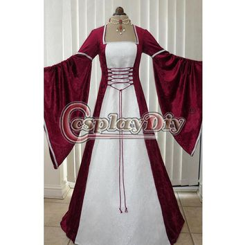 Renaissance Medieval Wedding Dress Cosplay Ball Gowns Costume Customizable