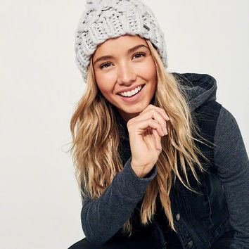 Girls Pom-Pom Cable Knit Beanie | Girls New Arrivals | HollisterCo.com
