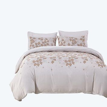 Bedding set 3/4pcs microfiber fabric duvet cover set king/queen/twin/single/double size bed set