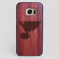 St Louis Blues Galaxy S7 Edge Case - All Wood Everything