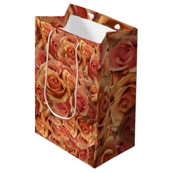 Roman Grenadier Roses Medium Gift Bag