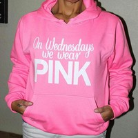 victoria s secret pink women s fashion letter print hooded long sleeves pullover tops sweater-1