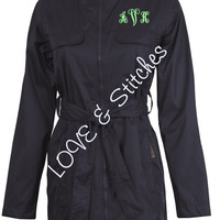 Rain Jacket with Monogram