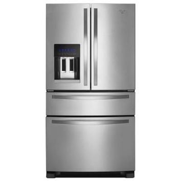 Whirlpool 24.5 cu. ft. French Door Refrigerator in Monochromatic Stainless Steel-WRX735SDBM at The Home Depot