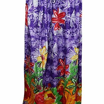 Womans Maxi Skirt Purple Floral Printed Bohemian Hippie Sexy Long Skirts S/M: Amazon.ca: Clothing & Accessories