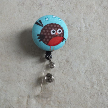 ID Badge Holder Retractable in Red Robin, Teacher Badge Reel, Sports Badge Reel, Nurse ID Badge Reel, ID holder, Badge Holder, Ready to Ship