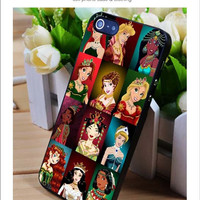 Disney Princess iPhone for 4 5 5c 6 Plus Case, Samsung Galaxy for S3 S4 S5 Note 3 4 Case, iPod for 4 5 Case, HtC One for M7 M8 and Nexus Case