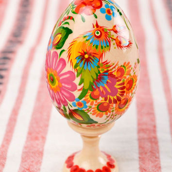 Beautiful handmade Easter egg painted Easter eggs wood craft decorative use only