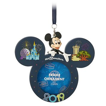 Disney Parks Walt Disney World Mickey 2019 Photo Frame Ornament New with Tags