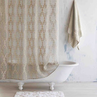 Totem Ivory / Linen Shower Curtain by John Robshaw