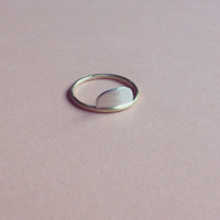 Little hill ring    half circle minimal   simple sterling silver and brass jewelry