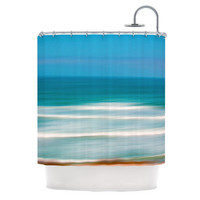"Ann Barnes ""Sun and Sea"" Shower Curtain - Great Gift - Matches Bath Mat!"