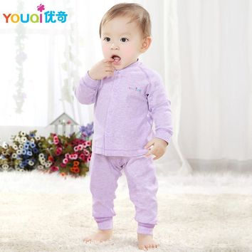 YOUQI High Quality Cotton Spring Baby Clothes Fall 3 6 9 Months Girls Boys Clothing set Casual Toddler Infant Pajamas Costumes