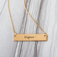 Virginia Gold / Silver Bar Necklace