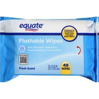 Equate Fresh Scent Flushable Wipes, 48 sheets (Pack of 3) - Walmart.com