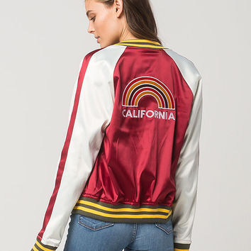 ASHLEY Retro Cali Womens Bomber Jacket | Jackets
