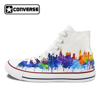 Colourful Chicago Skyline Original Converse All Star Men Women Shoes