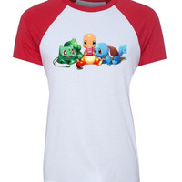Pokemon Charmander Squirtle Bulbasaur Pokeball Design Pattern T-Shirt Woen's Girl's Short Sleeve Graphic Tee Tops Family Vacation Fans Party Cosplay Tshirts = 1956842628