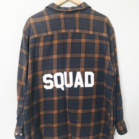 Squad Flannel - Brown/Blue