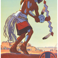 Santa Fe Railroad Hopi Land Travel Poster 11x17