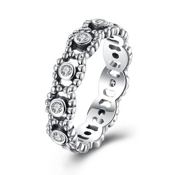 d41a183cf Sterling Silver Pandora Inspired Floral Twist Ring