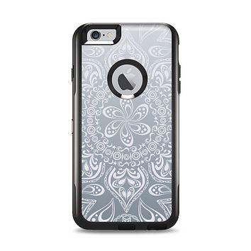 The Intricate White and Gray Vector Pattern Apple iPhone 6 Plus Otterbox Commuter Case Skin Set