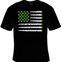 Marijuana Flag of Joints T-Shirt Women's