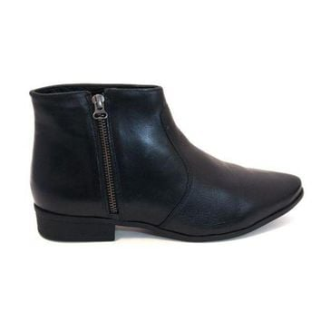 CREYONIG Chelsea Crew Jupiter - Black Short Side-Zip Flat Boot
