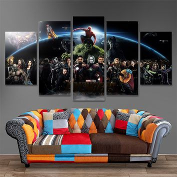 Marvel's Infinity War Five Piece Canvas Home Decor