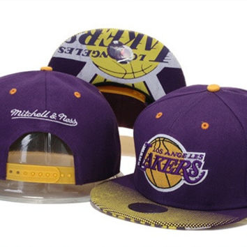 Los Angeles Lakers Mitchell and Ness 9FIFTY Snapback Hats