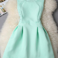 Light Blue Sleeveless A-Line Mini Dress