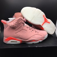 Nike Air Jordan 6 Retro Pink 384664-031 Basketball Shoe US5.5-13
