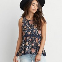 AEO Peplum Cami , Blush | American Eagle Outfitters