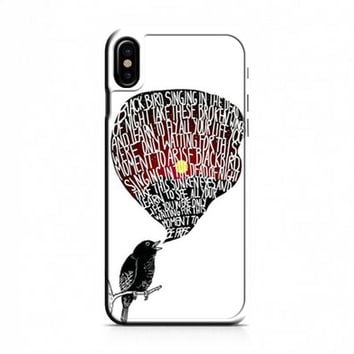 The Beatles Blackbird Lyrics iPhone X Case