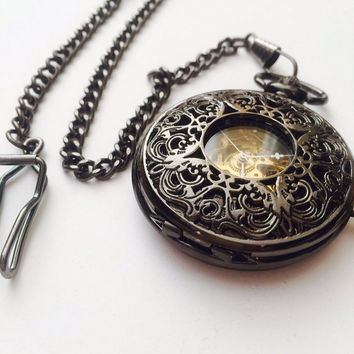 Mechanical Pocket Watch- Steampunk pocket watch- groomsmen gifts
