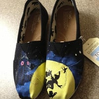 Disney Peter Pan Custom Painted Shoes