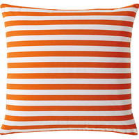 Serena & Lily, Classic Stripe 26x26 Pillow, Tangerine, Decorative Pillows