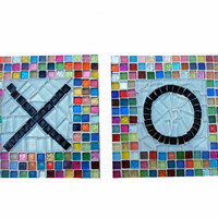 Multicolored Mosaic Wall Art, XO
