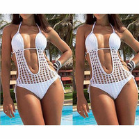 HAND KNITTING ONE PIECE SWIMSUIT