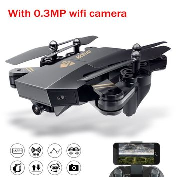 VISUO XS809HW Foldable Selfie RC Drone With 0.3MP Camera Altitude Hold FPV kvadrokopter WiFi Remote Conrol Helicopter Toys