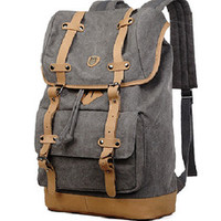Canvas Travel Laptop School Backpack durability