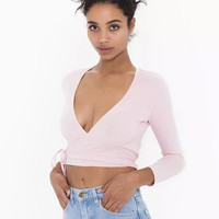 V-Neck Sleeve Crop Tank Top