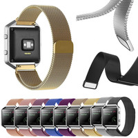 Milanese Magnetic Loop Stainless Steel Mesh Watch Bands Strap Bracelet For Fitbit Blazed INY66