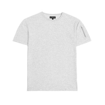 TS222 Drop Shoulder Utility Tee - Heather Grey