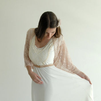 Blush bridal shrug (4 options shawl- shrug, shawl, criss cross and scarf