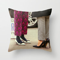 Shoes are a girl's best friend Throw Pillow by Street Style Seconds