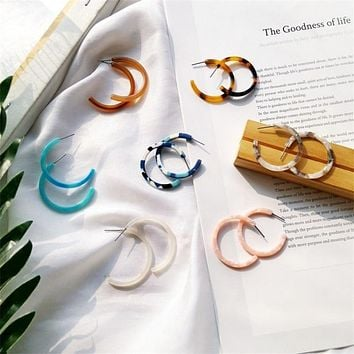 Colorful C-Shaped Earrings