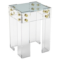Cap Ferrat Side Table, Small, Acrylic / Lucite, Standard Side Tables