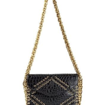 Tory Burch eyelets and chains shoulder bag
