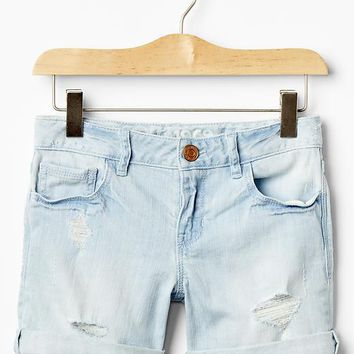 1969 destructed denim midi shorts | Gap